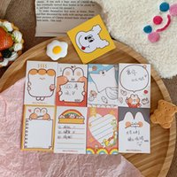 Wholesale rabbit notepad resale online - Ohamm Sheets Cute Cartoon Rabbit Rainbow Sticky Notes Post Notepad Memo Pad Stationery Office School Supplies F sqclqb pp2006