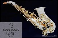 New Curved saxophone Yanagisawa S-991 Bb musical instrument Soprano Sax White paint professional performance With case Free
