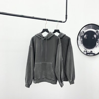 Womens Hoodie with Lock Pattern In Front 2020 New Hooded Clothes Girls Hiphop Hoodie Streetwear Washed Material 2021 Wholesale High Quality