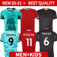 Wholesale salah soccer jersey for sale - Group buy player version LVP Mohamed M SALAH FIRMINO soccer jersey football shirts VIRGIL MANE KEITA goalkeeper Men Kids kit unifor