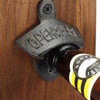 Wholesale wall mount beer bottle openers for sale - Group buy Hot Sales Chic Vintage Antique Iron Wall Mounted Bar Beer Glass Bottle Cap Opener Kitchen Tools Bottle Opener Opener Without Srew OWF3307