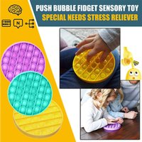 Hot Push Pop Fidget Toy Sensory Push Pop Bubble Sensory Toy Fidget Toy Autism Special Needs Anxiety Stress Reliever for Kids Adults