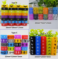 Colorful Custom silicon vape band beauty rubber bag ring Personalized silicone bracelet Welcome OEM Print your name logo text for ecig tank