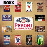 ingrosso piastra pubblicitaria-Classic Whisky Metal Signs Stag Beer Johnnie Walker Plaque Plaque Bar Decor Plate Vintage Pub Pub Club pubblicitario Birra Birra Poster Yi-035