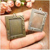 10pcs Retro Antique Bronze MINI Painting Frame Creative Decorative DIY Photo Frame Pendant Home Decoration Parts1
