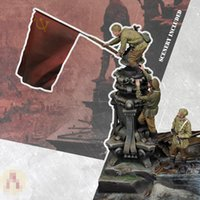 1 35 Resin Model figure GK Soldier THE FLAG OVER BERLIN Scenes including Military theme of WWII Unassembled and unpainted kit 201202