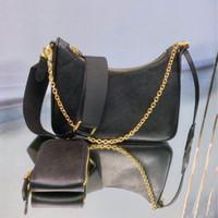 Genuine leather handbag hobo crossbody bag shoulder bag for women fashion bags lady chains handbags cowhide hobo chain purse messenger bag