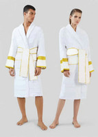 Luxurys Designers Men Home Bathrobe Long Sleeve Women Robes Cotton Nightwear Swimming Pajamas Milano Unisex Sleepwear Hotel Nightgrown White