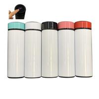 Hot Sale 17oz Blank Sublimation Temperature Display Water Bottle 17oz 500ml Vacuum DIY Heat Transfer Printing Water Bottle