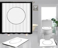 Trend Print Shower Curtains Sets Hipster High-grade Four-piece Suit Bathroom Anti-peeping Non-slip Deodorant Bath toilet Mats