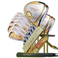 Fast Shipping Complete Set Golf Clubs S-06 4 Stars Driver Woods+Irons+Putter R S Flex Available Free Headcovers