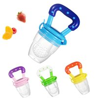 Wholesale baby food pacifier resale online - Baby Food Feeder Fruit Feeder Pacifier Infant Teething Toy Teether Food Grade Silicone Pouches For Toddlers And Kids EWD2950