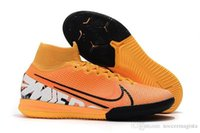 Wholesale cr7 indoor high top shoes resale online - 2019 top quality mens soccer shoes Mercurial Superfly Elite TF IC indoor soccer cleats CR7 football boots high ankle scarpe da calcio