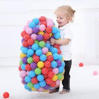 Wholesale ocean ball pit resale online - 300 Colorful Ocean Balls Children Eco Friendly Plastic Ball Kids Swim Pit Water Pool Wave Ball Baby Funny Toys Dia cm Y1127