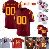 Wholesale clay s resale online - Stitched Custom Clay Matthews Reggie Bush Junior Seau Michael Pittman Jr USC Trojans College Men Women Youth Jersey