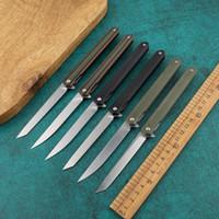 Wholesale pen knives resale online - Magic pen folding knife D2 steel G10 handle lightweight pocket hunting survival knife outdoor camping slice fruit knife