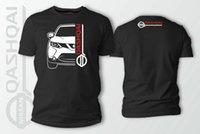 Wholesale car side graphics resale online - Double Side Niss Qashqai J11 Car Auto Black Brand Short Sleeve Designs Best Selling Cool Designers T Shirt Men Graphic Hoodie