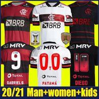 Wholesale breathable football jerseys resale online - 2020 Flamengo soccer jersey DE ARRASCAETA GABRIEL Barbosa football shirts kids kit GERSON B HENRIQUE uniform Camisa Flamengo Feminina