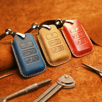 key covers for range rover 2021 - for Land Range Rover Found 5for Jaguar Car Bag Crazy Horse Leather Handmade Sleeve Keychain Key Cover