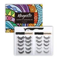 H new 10pairs magnetic eyelashes 3d Mink eyelash False Eyelash Soft Natural Thick 3d mink HAIR false eyelash natural Extension 3d Eyelashes