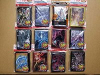 Wholesale yu gi cards resale online - 50pcs Anime Yu Gi Oh Dark Magician Girl yugioh Cosplay Board Games Card Sleeves Barrier Protector toy gift
