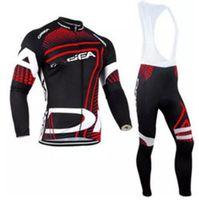 Pro Team Cycling Clothing Long sleeves Autumn Spring Mem Cycling jersey MTB bike Ropa Ciclismo Cycle Sportswear Set