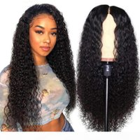 Wholesale prices curly wigs resale online - 10A Brazilian Hair Deep Wave Straight Human Hair Wigs Kinky Curly Lace Front Wigs Body Wave For Black Women Price
