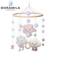 Wholesale baby toys rattle wood for sale - Group buy 1PC Baby Cute White Cloud Rattles Crib Mobiles Wood Toy Holder Rotating Bed Bell Musical Box Cloud Cotton Carousel For Cots Z1124