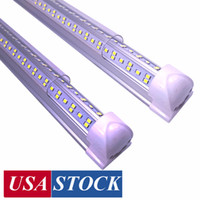 8Ft Led Shop Lights ,8 feet Cooler Door Freezer LED Lighting Fixture ,4 Row 144W 14400 lm ,V Shape Fluorescent Led Tubes Lights Clear Cover