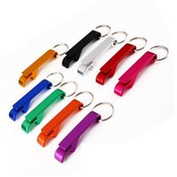 Wholesale design kitchen tools resale online - Bottle Opener Aluminum Alloy Bottle Bear Openers Portable Stainless Steel Openers in Design Keychains Kitchen Tools Newest EWC3881