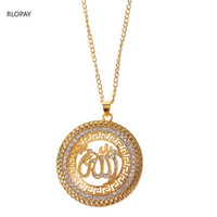 Wholesale pendent necklaces resale online - Mulism Chain Necklace In Gold Pendent Necklace for Women Royal Arabic Jewelry Pendents