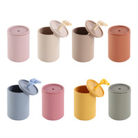 Silicone Mini Cup with Lid for Toddlers Food Grade Silicone Sippy Cups Infant Baby Drinking Training Feeding Cup