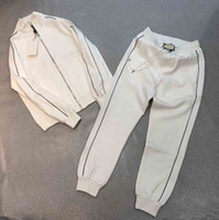 top quality men cotton tracksuit slongsleeve casual sportsuit asian size m-3xl s black and white