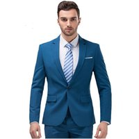Wholesale wedding dresses for skinny for sale - Group buy Men s Suits Two Piece Blazer Suit Slim Fit Business Wedding Groom Dress Suits For Men Jackets Pants Plus Size custom