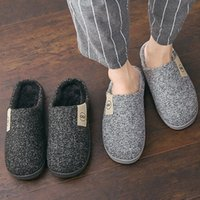 boys winter slippers 2021 - Fashion Women Slippers Winter Warm Fur Slides Men Ladies Boys Girls House Shoes Flat Heel Home Indoor Bedroom Zapatilla Mujer 201125