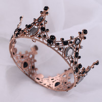 Gold Princess Headwear Chic Bridal Tiaras Accessories Stunning Crystals Pearls Wedding Tiaras And Crowns 1207