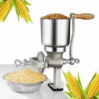 Wholesale flour mills resale online - Manual Corn Grinder Flour Maker Wheat Grain Nut Mill Grinder Kitchen Tool