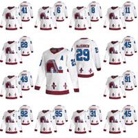 Colorado Avalanche 2021 Reverse Retro Jersey Nathan MacKinnon Cale Makar Mikko Rantanen Gabriel Landeskog Nikita Zadorov Calvert Ian Cole
