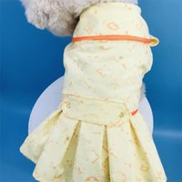 Creative Designer Pets Dresses High Stree Lovely Charm Pet Windcoats Trendy Letter Printed Schnauzer Bulldog Skirt