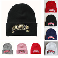 Wholesale hip hop fashion for girls resale online - 2020 New Backwoods Letter Knitted Beanie Acrylic Men Women Fashion Knitted Winter Hat Hip hop Skullies Hats for Girls Boys