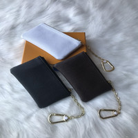 Top Quality Key Pouch Leather Holds 4 Color Fashion Classical Women Key Holder Coin Purse Small Leather Key Wallets