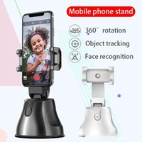 Wholesale track mobile phones for sale – best Universal Cell Phone Mount Mobile Phone Holder Degree Rotation Stand Intelligent Tracking Face Recognition For Photo Taking