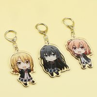 Wholesale square acrylic keychains resale online - Teen Snafu Keychain My Youth Romantic Comedy Is Wrong As i Expected Keyring Yukino Acrylic Keychains Pendant