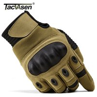 TACVASEN Military Tactical Gloves Men Airsoft Army Combat Gloves Hard Knuckle Full Finger Motorcycle Hunt Gloves Touch Screen Y200110