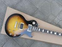 Custom quality guitar, Vintage Sunburst one piece body, Thick Plain Mpale Cap, frets binding
