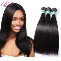 Wholesale bd hair for sale - Group buy BD Silky Straight Human Hair Extensions Malaysian Human Hair Weave Natural Black Double Layers Bundles One Set