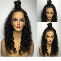 Wholesale ponytail human hair lace wig for sale - Group buy 2016 high ponytail full lace wig Peruvian glueless full lace curly human hair wigs lace front wigs with baby hair
