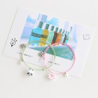 Wholesale panda bracelets resale online - New Arrival Ceramic Bracelet Bangles Japanese Cartoon Animals Handmade Fashion Alloy Bracelet Jewelry Cute Panda Cat Fish