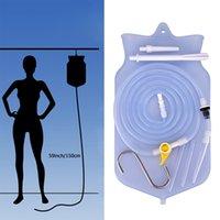 Wholesale enemas kits resale online - 2L Enema Bag Kit Reusable Silicone Water Colon Cleansing Enteroclysm Detoxified Bowel Bags Vaginal Anal Washing
