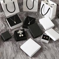 wholesale Custom Pure white box coated matte jewelry packing ring Bracelet handbag gift